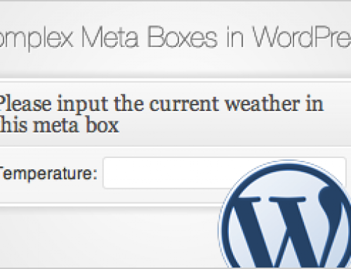 Complex Meta Boxes in WordPress