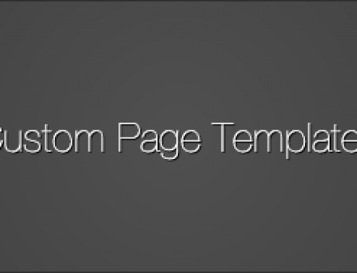 Custom Page Templates – The Very Basics