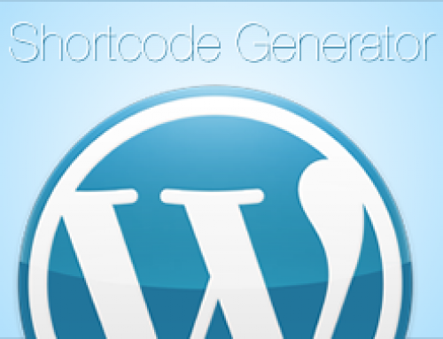 Shortcode generator for WordPress