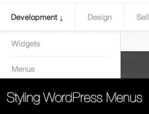 How to style WordPress Menus & Dropdowns